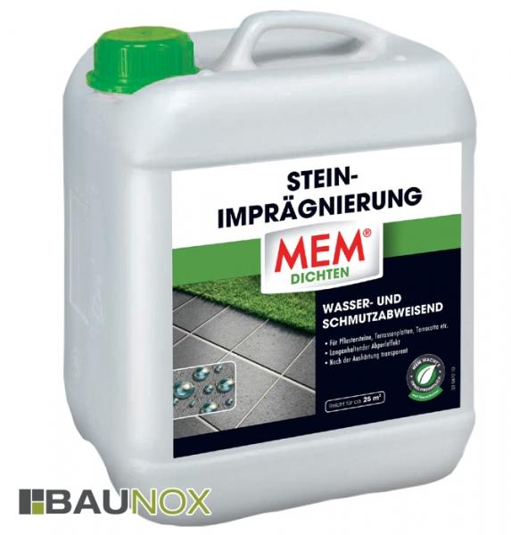 MEM STEIN-IMPRÄGNIERUNG ist wasser- und schmutzabweisend - 5 Liter