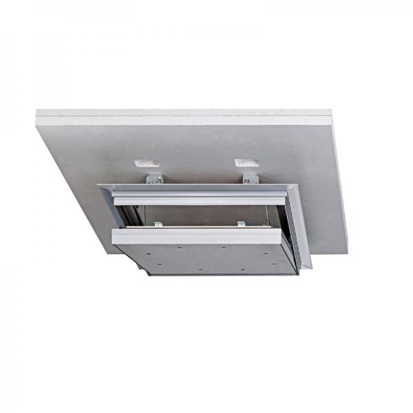 Rauch-, luft- und staubdichte Alumatic F/EI30 Revisionsklappe für die Montage in selbstständige Brandschutzunterdecken