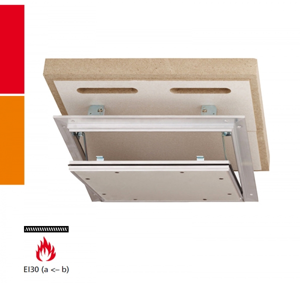 Alumatic F/EI30 Revisionsklappe für Montage in Verbindung mit einer Rohdecke nach DIN4102-2