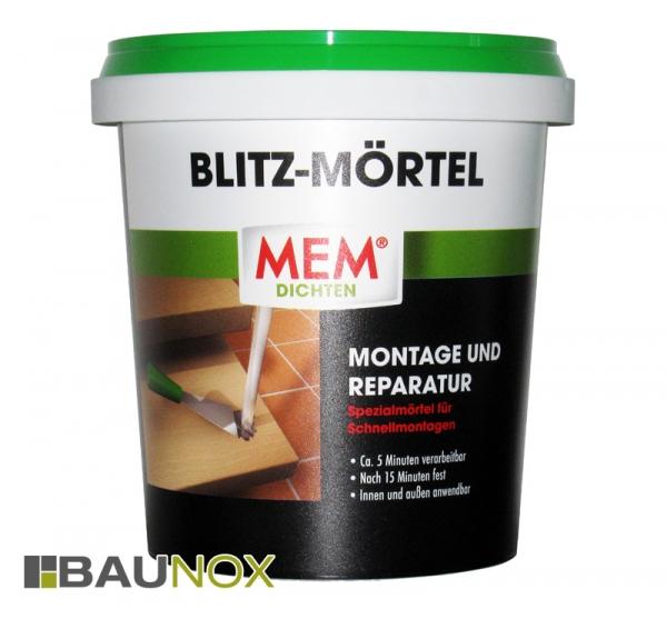 MEM Blitz-Mörtel ist ein Spezialmörtel für Schnell-montagen