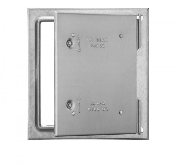 Kamintür mit Vierkantverschluss - Edelstahl oder verz. Stahlblech - Wartungsklappe für den Schornsteinfeger