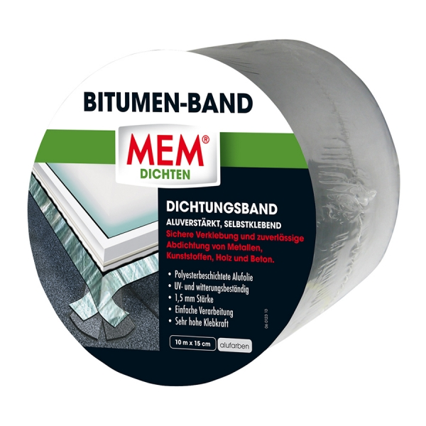MEM Bitumen-Band - alu - 15 cm x 10 m