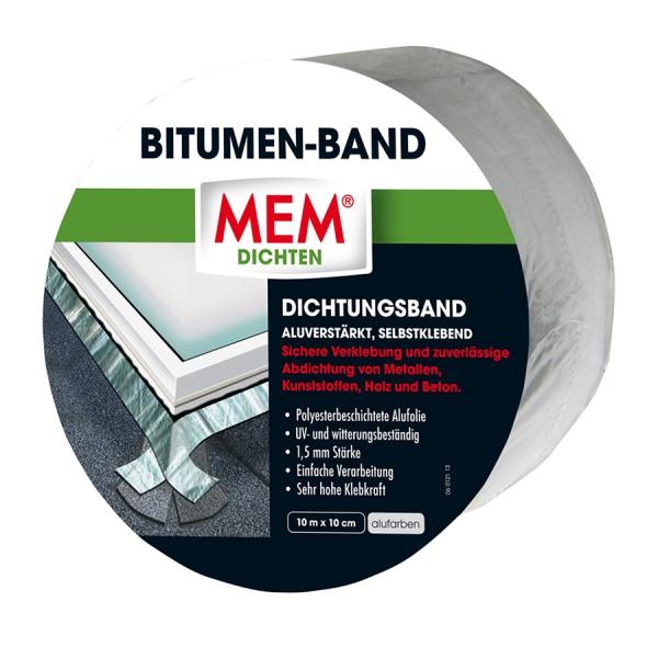 MEM Bitumen-Band - alu - 10 cm x 10 m