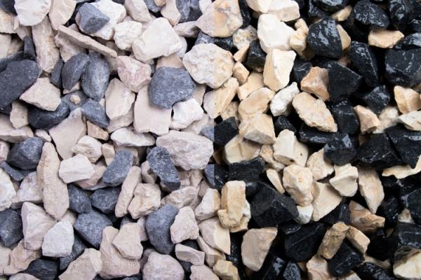 Mixed Schachbrett - Sonnenmond und Blackstone - für Wege, Einfahrten, Parkplätze oder Beetanlagen 8-16 mm