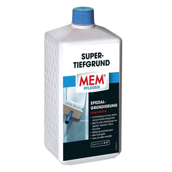 MEM SUPER-TIEFGRUND - Spezialgrundierung zum Grundieren und Verfestigen von losem Putz - 1 Liter