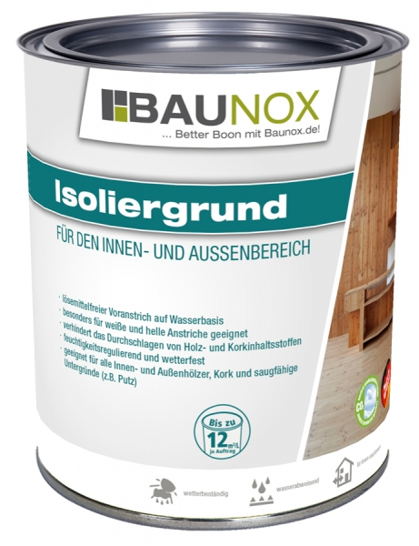 Baunox Isoliergrund - lösemittelfreier Voranstrich für den Innen- und Aussenbereich