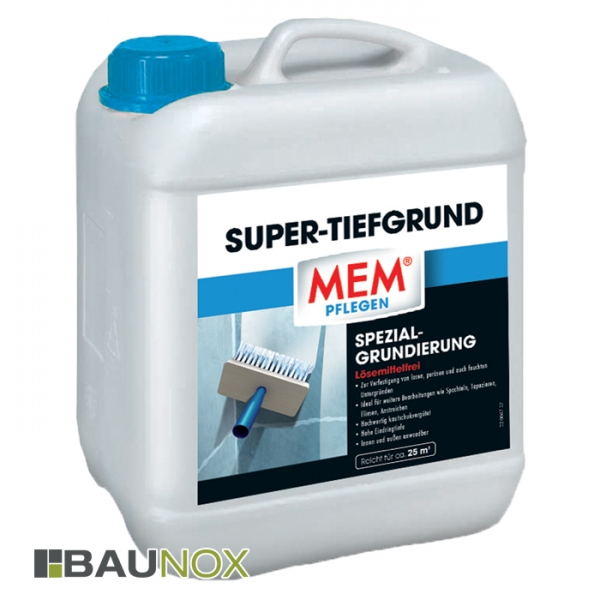 MEM SUPER-TIEFGRUND - Spezialgrundierung zum Grundieren und Verfestigen von losem Putz - 5 Liter