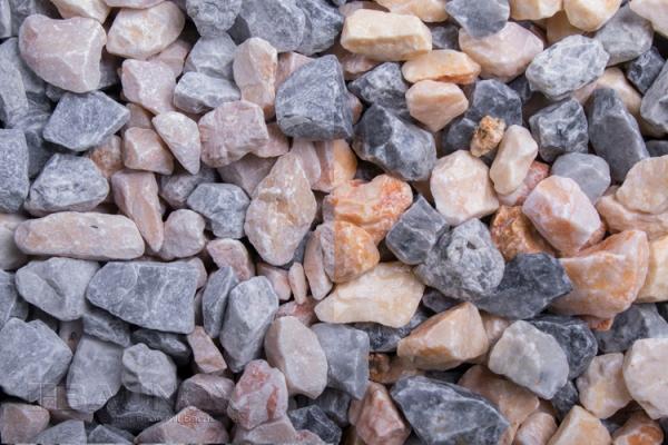 Mixed Miami Kristall Florida - Greystone Mandala Zierkies / Ziersplitt für Wege, Einfahrten, Parkplätze oder Beetanlagen 16-32 mm