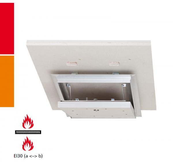 Alumatic Safe Plus F/EI30 Revisionsklappe für Montage in selbstständige Brandschutzunterdecken