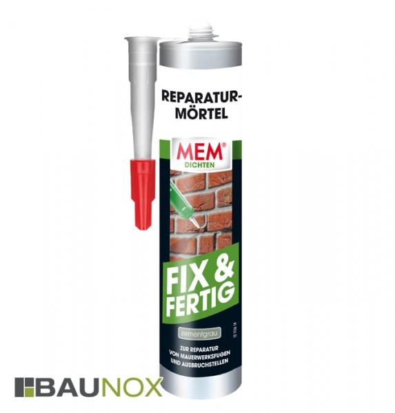 MEM REPARATUR-MÖRTEL FIX & FERTIG Kartusche zum Schliessen von Mauerwerksfugen, Ausbruchstellen oder Rissen