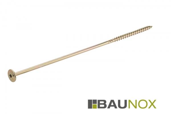 Tellerkopfschrauben für den Holzbau-/rahmebauweise oder Konstruktionsbau - gelb verzinkt