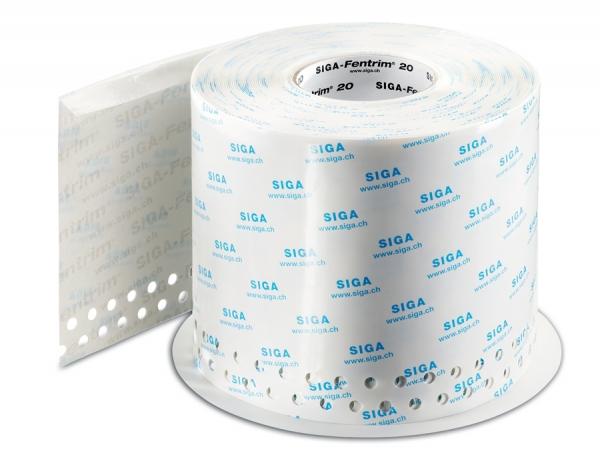 SIGA Fentrim 20 200 mm - Luftdichtes Klebeband mit Einputz-Zone für Fenster- und Türrahmen im Innenbereich