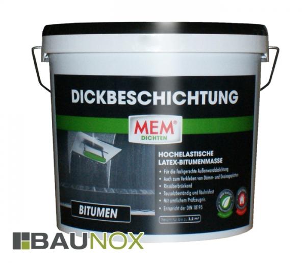 MEM DICKBESCHICHTUNG ist eine hochelastische Latex-Bitumenmasse zur Abdichtung im Aussenbereich