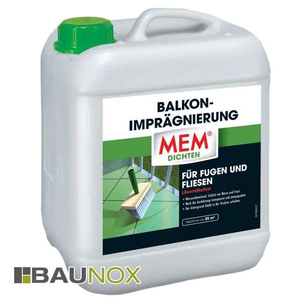 MEM Balkon-Imprägnierung zur wasserdichten und atmungsaktiven Behandlung von Balkonen und Terrassen