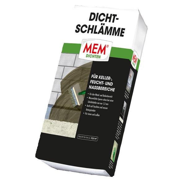 MEM DICHTSCHLÄMME zur Brunnenabdichtung, für Keller, Feucht- und Nassbereiche