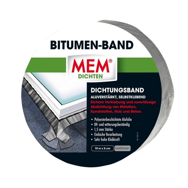 MEM Bitumen-Band - blei - 5,0 cm x 10 m