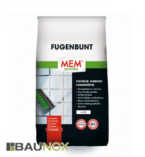 MEM FUGENBUNT ist ein flexibler Fugenmörtel in vielen verschiedenen Farben