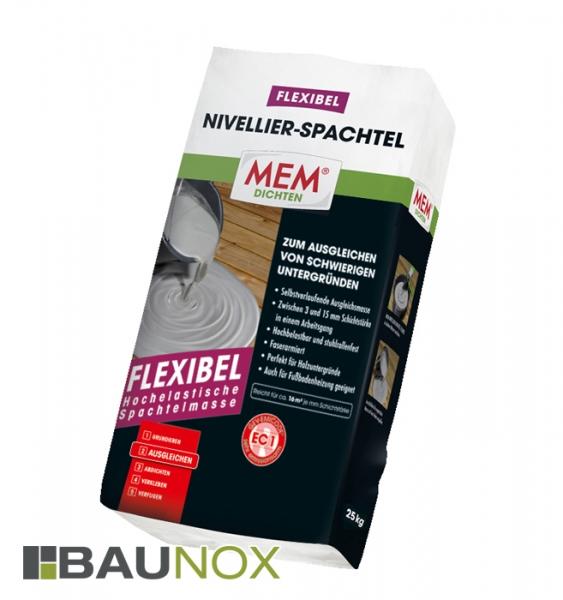 MEM NIVELLIER-SPACHTEL FLEXIBEL ist die hochelastische Spachtelmasse zum Ausgleichen schwieriger Untergründe