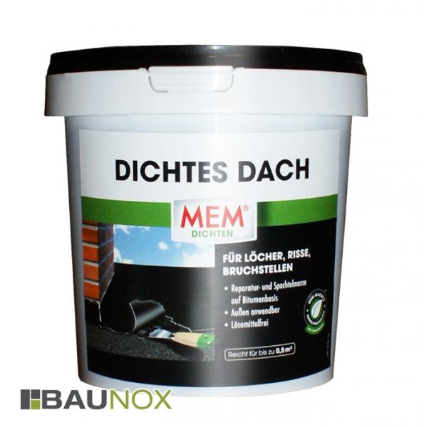 MEM DICHTES DACH für Löcher, Risse und Bruchstellen im Aussenbereich - 1kg